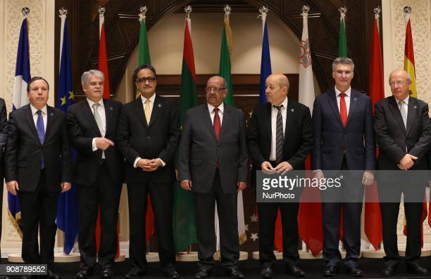 Foreign ministers of Tunisia Khemaies Jhinaoui Spain Alfonso Maria Dastis Quecedo Algeria Abdelkader Messahel France JeanYves Le Drian Malta Carmelo...
