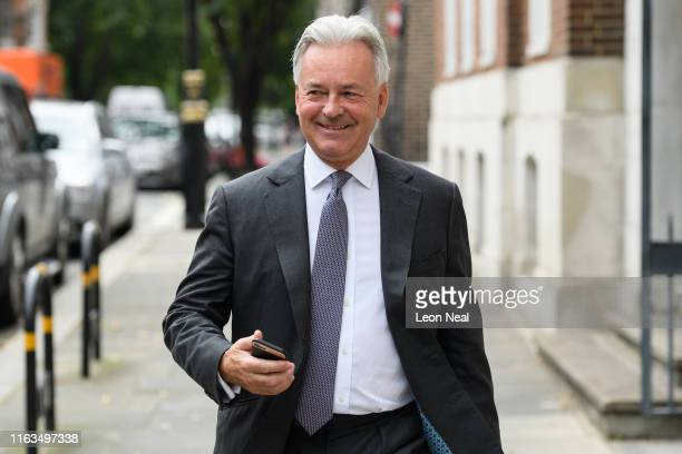 Foreign Office minister Alan Duncan walks through Westminster after it was announced that he would be quitting his government position ahead of Boris...