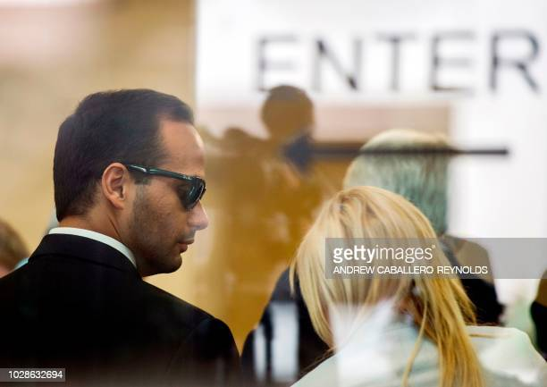Foreign policy advisor to US President Donald Trump's election campaign George Papadopoulos and his wife Simona Mangiante Papadopoulos arrive at US...