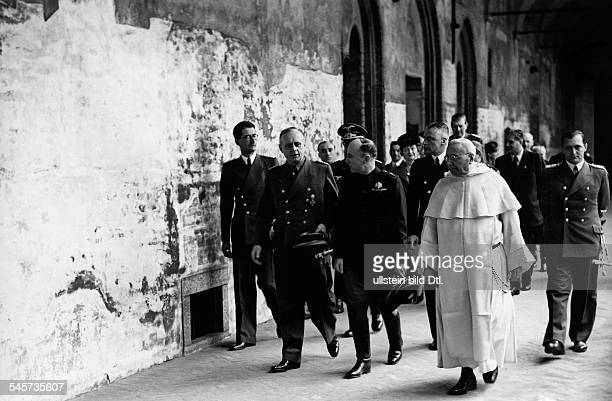 Foreign relations Germany / Italym preliminary negotiations for the Treaty of Steel: Foreign Minister Joachim von Ribbentrop in Milan, visiting the...