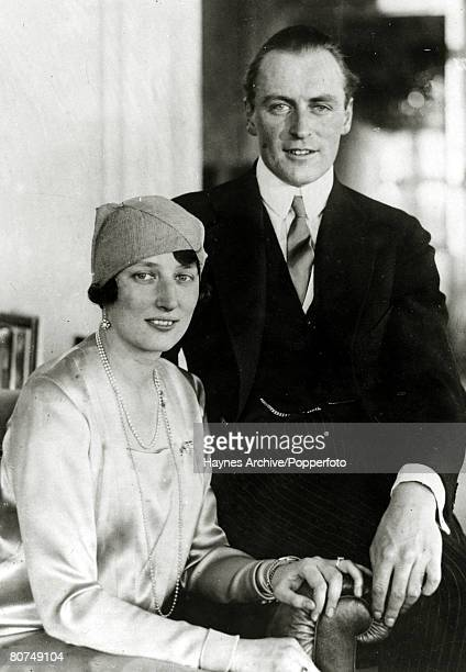1929 Crown Prince Olav of Norway pictured with Princess Martha of Sweden after they had announced their engagement Crown Prince Olav succeeded his...