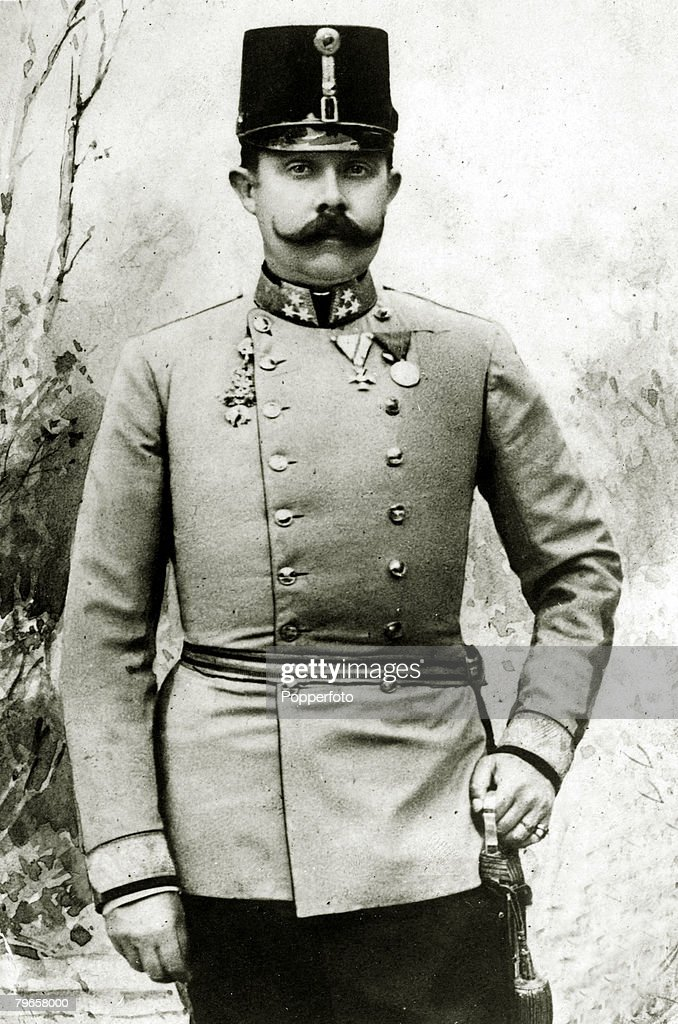 Foreign Royalty, Personalities, pic: circa 1900's, The Archduke of Austria,Franz Ferdinand, portrait, Archduke Franz-Ferdinand, (1863-1914), heir to the Austro-Hungarian empire, was assassinated in Sarajevo in 1914, an incident that precipitated World War : News Photo