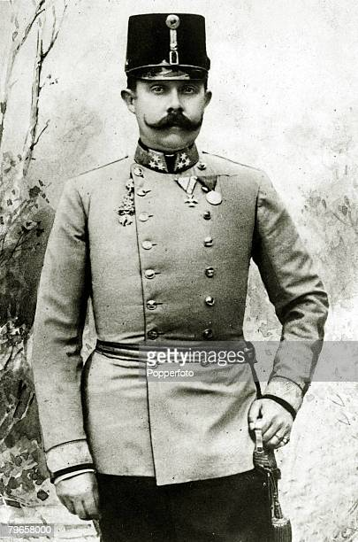 circa 1900's The Archduke of AustriaFranz Ferdinand portrait Archduke FranzFerdinand heir to the AustroHungarian empire was assassinated in Sarajevo...