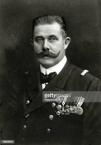 circa 1910s The Archduke of AustriaFranz Ferdinand portrait Archduke FranzFerdinand heir to the AustroHungarian empire was assassinated in Sarajevo...