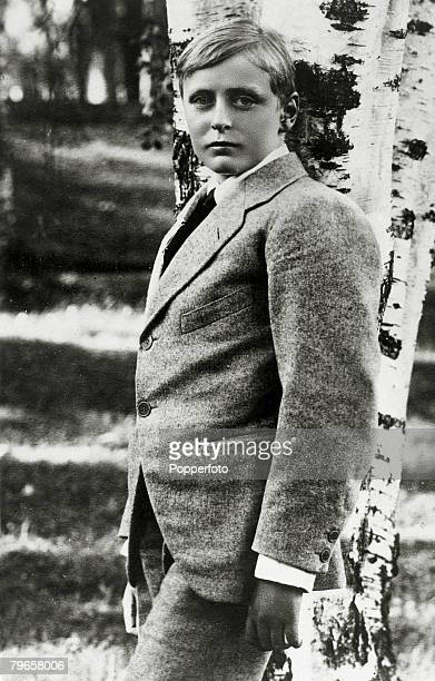 circa 1915 Crown Prince Olav of Norway pictured as a boy Crown Prince Olav succeeded his father King Haakon VII in 1957 becoming King Olav V