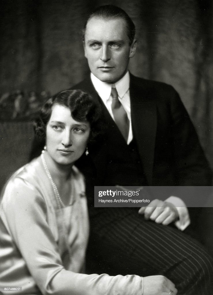 Foreign Royalty Personalities. pic: circa 1929. Crown Prince Olav (Olaf) of Norway with Princess Martha pictured close to the time they were to be married. Crown Prince Olav (1903-1991) succeeded his father King Haakon VII in 1957 becoming King Olav V. : News Photo