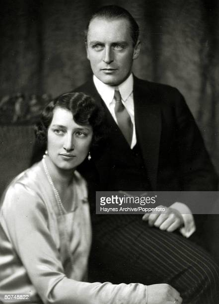 circa 1929 Crown Prince Olav of Norway with Princess Martha pictured close to the time they were to be married Crown Prince Olav succeeded his father...