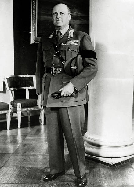 Circa 1958s King Olav Olaf Of Norway Portrait Pictured In Army
