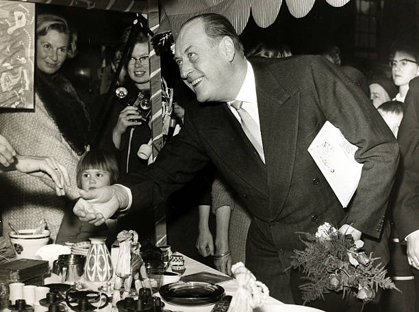 November 1964 King Olav Olaf Of Norway Pictured In Good Spirits At A
