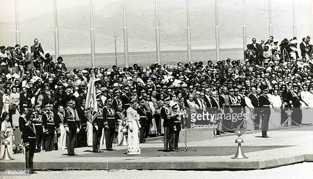 October 1971 at Persepolis The Shah of Iran with the Empress Farah Diba at a ceremony at Persepolis to celebrate the founding of the Persian Empire...