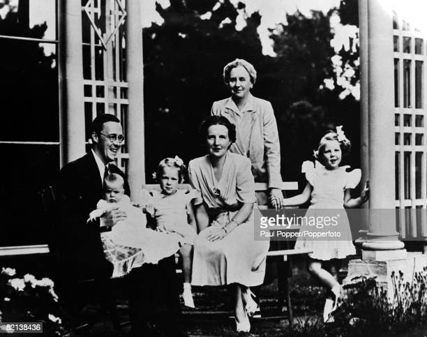 17th November 1943 The Dutch Royal Family in exile in Canada during World War II featuring Prince Bernard Princess Juliana and their 3 children