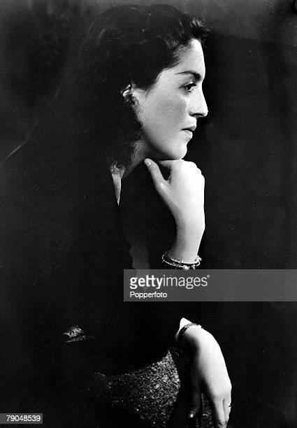 circa 1940's Queen Alexandra of Yugoslavia born 1921 formerly Princess Alexandra of Greece who married King Peter II of Yugoslavia in 1944 as King...