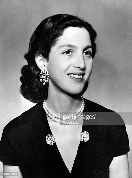 circa 1940's Queen Alexandra of Yugoslavia born 1921 formerly Princess Alexandra of Greece who married King Peter II of Yugoslavia in 1944 as King...