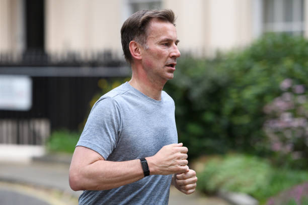 GBR: Conservative Leadership Candidate Jeremy Hunt On Morning Run