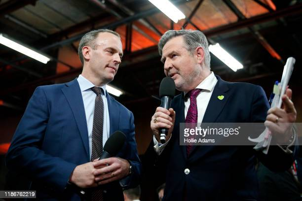 Foreign Secretary and First Secretary of State Dominic Raab and Shadow International Trade Secretary Barry Gardiner take part in a debate in the spin...