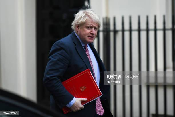 Foreign Secretary Boris Johnson arrives at Downing Street to formally discuss what the UK's longterm relationship with the EU should be London on...