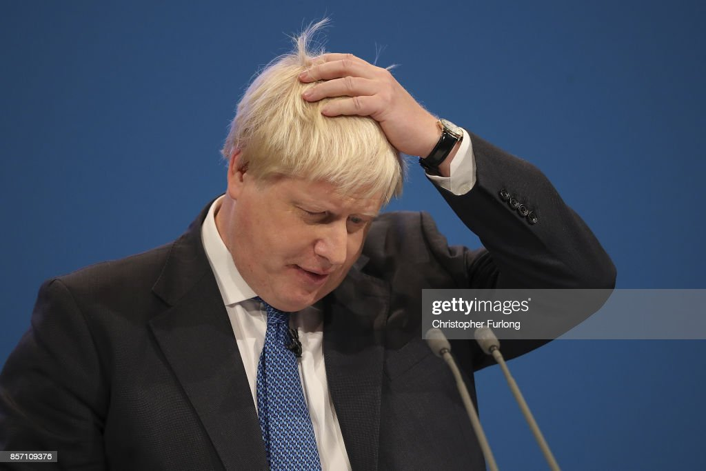 Foreign Secretary Boris Johnson delivers his keynote ...