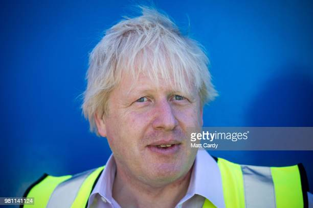 Foreign Secretary Boris Johnson listens as he takes part in a visit to National Oceanography Centre where he discussed the FCO Oceans Strategy on...
