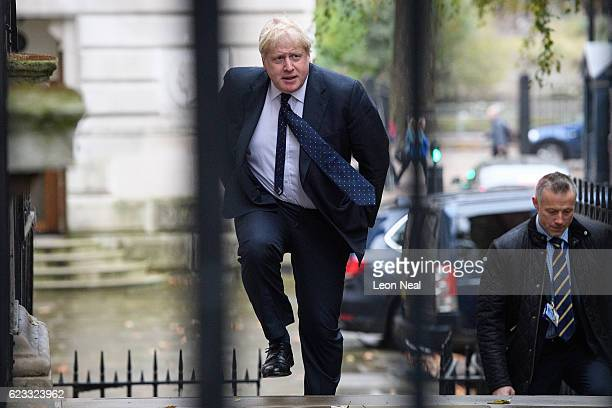 Foreign Secretary Boris Johnson walks to number 10 Downing Street ahead of a Cabinet meeting on November 15 2016 in London England The government...