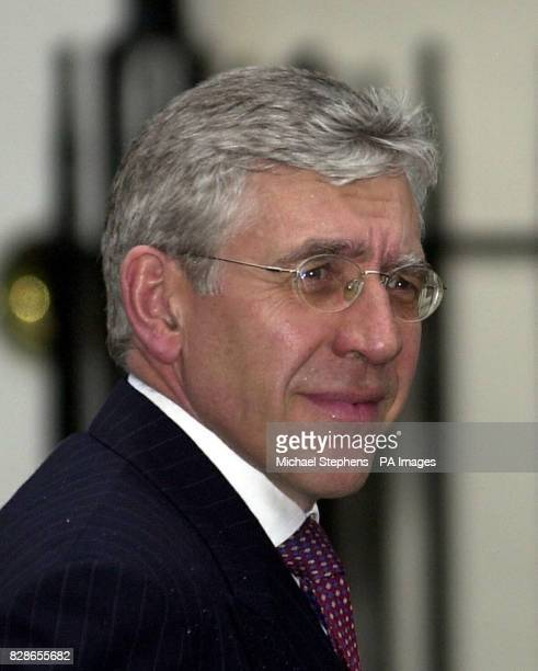 Foreign Secretary Jack Straw arrives at No 10 Downing Street London on the day he gave a grim warning of further setbacks for British and American...