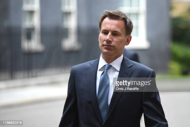 Foreign Secretary Jeremy Hunt arrives as government minister meet to discuss deepening Iran crisis in Downing Street on July 20 2019 in London...