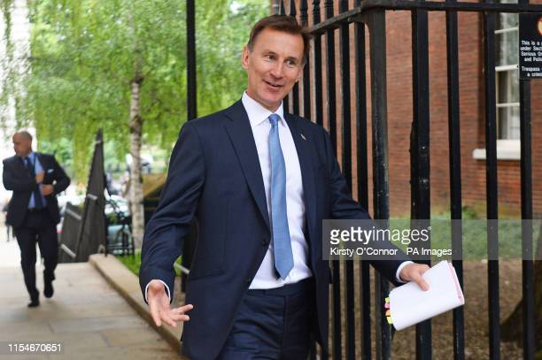 Foreign Secretary Jeremy Hunt arrives for a cabinet meeting at 10 Downing Street, London.