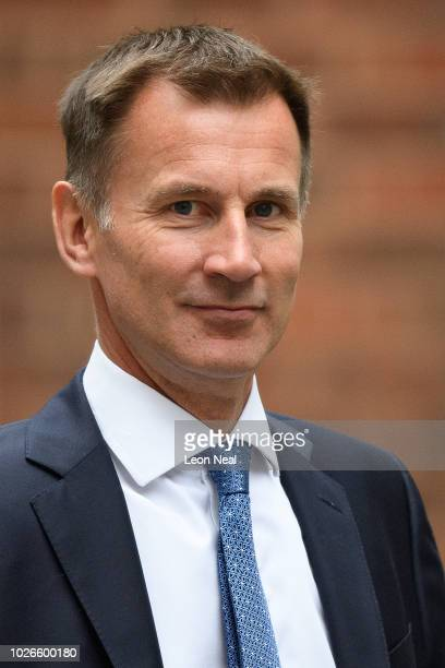 Foreign Secretary Jeremy Hunt arrives in Downing Street ahead of the first Cabinet meeting following the Summer recess, at Downing Street on...