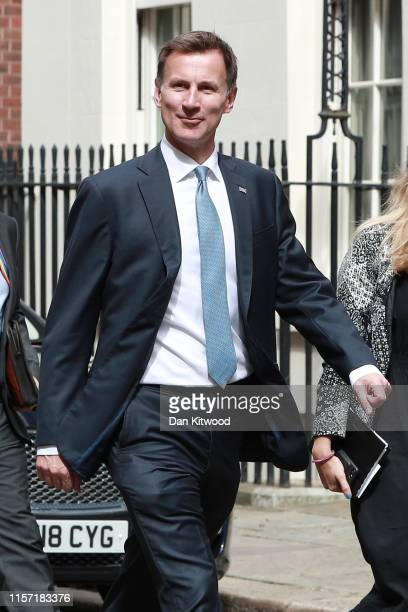 Foreign Secretary Jeremy Hunt arrives in Downing Street for a cabinet meeting on July 22, 2019 in London, England. Prime Minister Theresa May chaired...