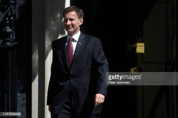 Foreign Secretary Jeremy Hunt leaves a Cabinet meeting at Downing Street on July 23, 2019 in London, England. Ministers of Theresa May's Cabinet...