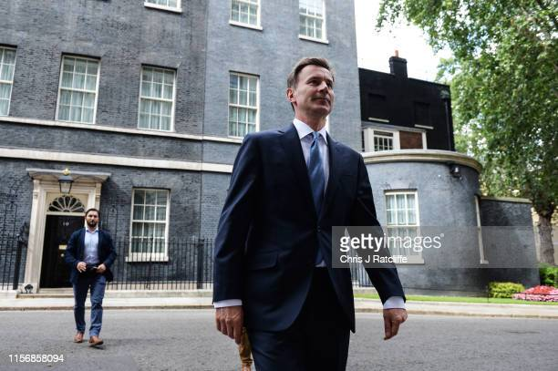 Foreign Secretary Jeremy Hunt leaves Downing Street as government ministers meet to discuss the deepening Iran crisis on July 20, 2019 in London,...