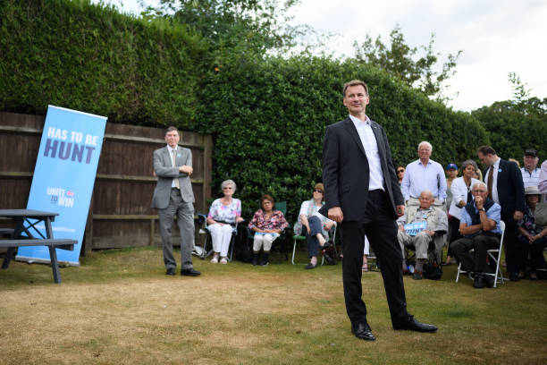 GBR: Jeremy Hunt Holds Campaign Event In Gerrards Cross
