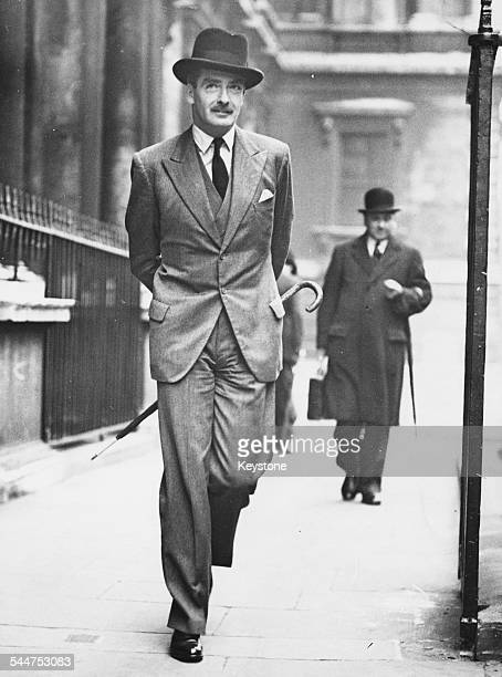 Foreign Secretary Sir Anthony Eden arriving for a Cabinet Meeting at 10 Downing Street London October 6th 1937
