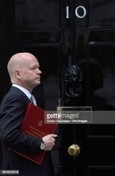 Foreign Secretary William Hague arrives for a cabinet meeting at 10 Downing Street London after Prime Minister David Cameron confirmed that new laws...