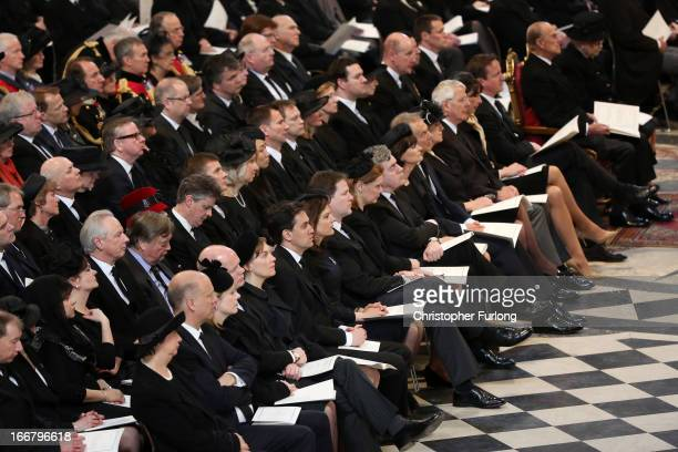 Foreign Secretary William Hague Leader of the Labour Party Ed Miliband Deputy Prime Minister Nick Clegg Sarah Brown former Prime Minister Gordon...