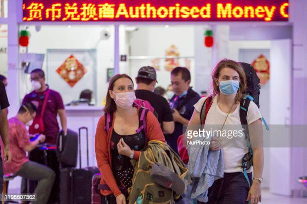 Foreign tourist arrivals at Batam International Port on February 5 2020 in Batam City Indonesia Corona virus that attacks the Chinese city of Wuhan...