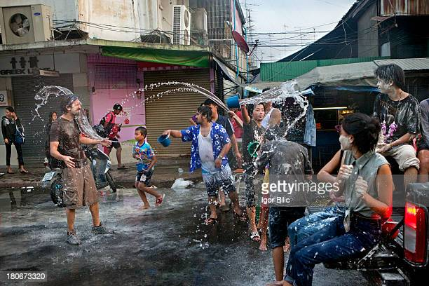 CONTENT] Foreign tourist finds himself in the middle of water wars on the streets of ancient Ayutthaya city Thailand The Songkran festival is...