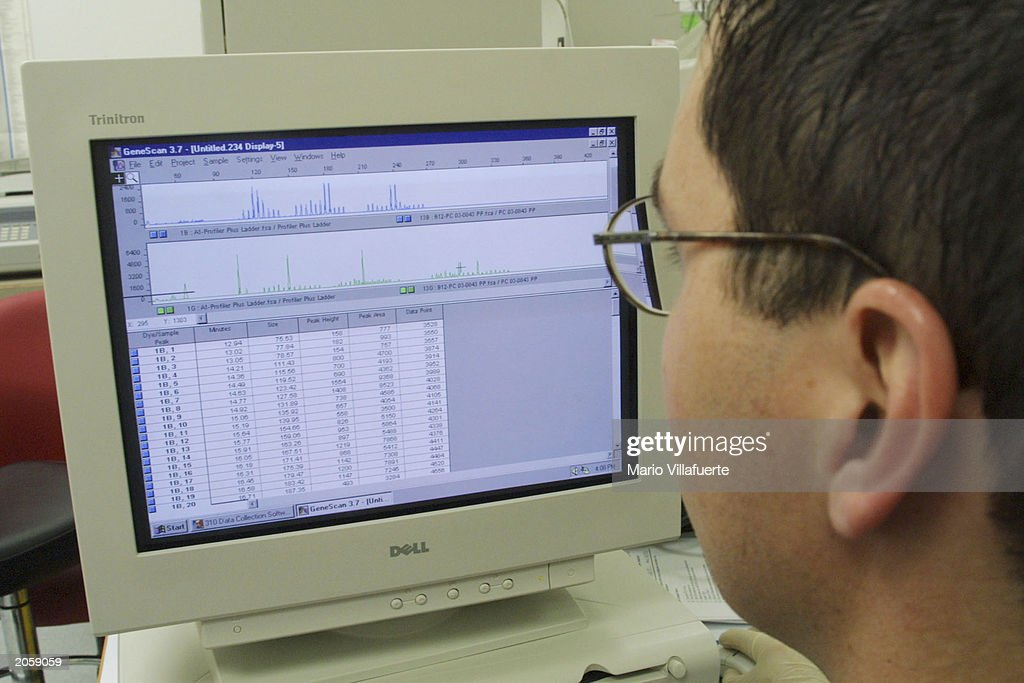 Forensic Analyst Alex Vara Reviews Past Dna Samples Data Analyzed By News Photo Getty Images
