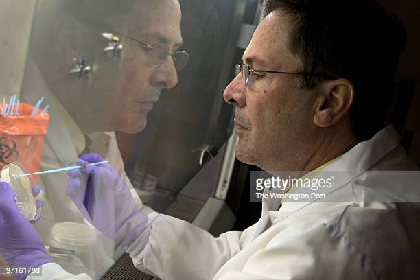 Forensic examiner Jason Bannan PhD works on culturing bacillus bacteria at a lab in Quantico VA Bannan was involved in the Anthrax investigation