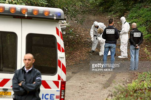 Forensic experts search for evidence near the Labema chemical factory in the town of Lorette near the central eastern city of SaintEtienne 11 October...