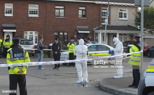 d5e7716184 Forensic Gardai at the scene of a fatal shooting on Cloverhill Road  Clondalkin west Dublin