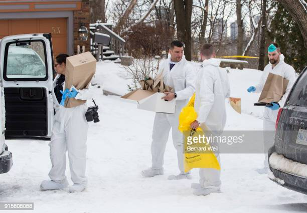TORONTO ON FEBRUARY 8 Forensic investiagtors remove evidence from home at 57 Mallory Cresc Toronto Planters containing body parts linked to accused...
