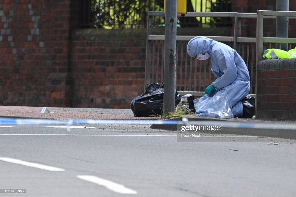Scenes In Reading After Three People Stabbed To Death At The Weekend : News Photo