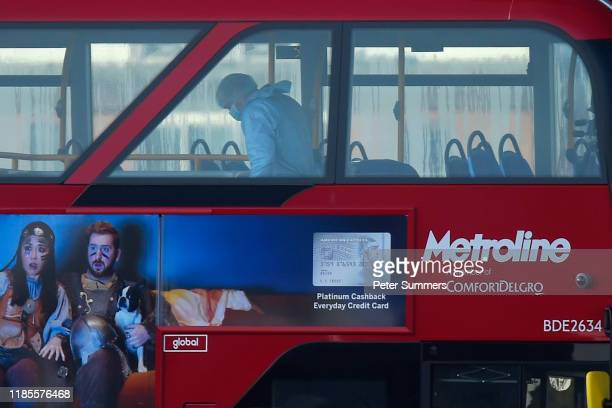 A forensic officer works on a bus as they investigate the scene of yesterday's London Bridge stabbing attack on November 30 2019 in London England A...