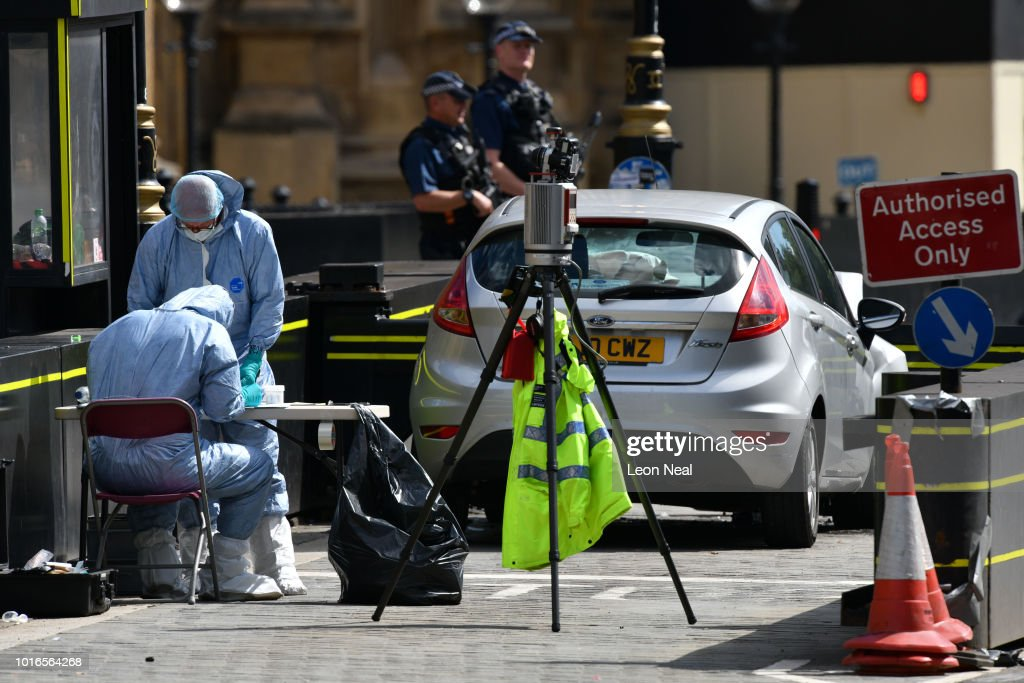 Forensic Officers Continue Their Work Around A Vehicle After It News Photo Getty Images
