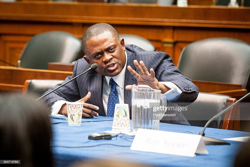Forensic pathologist and neuropathologist Dr. Bennet Omalu participates in a briefing sponsored by Rep. Jackie Speier (D-CA) on Capitol Hill on January 12, 2016 in Washington, DC. Dr.Omalu is credited with discovering chronic traumatic encephalopathy, or CTE, in former NFL players.