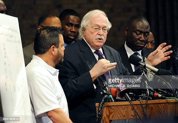 Forensic pathologist Michael Baden addresses members of the media concerning the preliminary autopsy report of slain 18 yearold Michael Brown on...