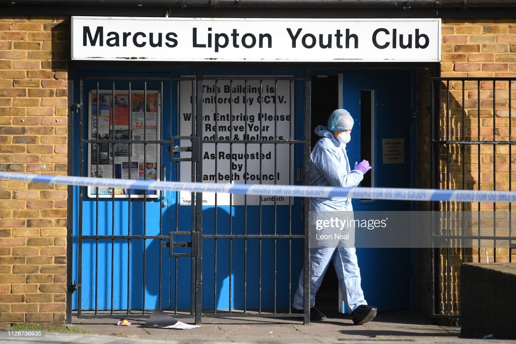 GBR: Scene After A Man Was Stabbed To Death At A Brixton Youth Club