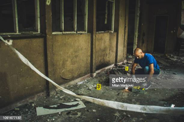 forensic science - crime scene - evidence stock pictures, royalty-free photos & images