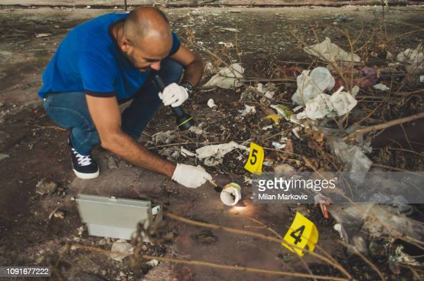 forensic science - crime scene - criminal investigation stock pictures, royalty-free photos & images