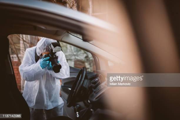 forensische wetenschap - moord stockfoto's en -beelden